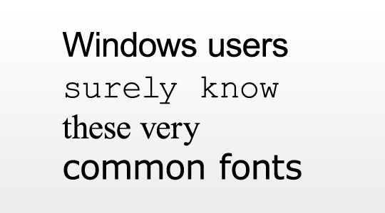 You know these fonts