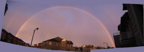 A beautiful rainbow panorama