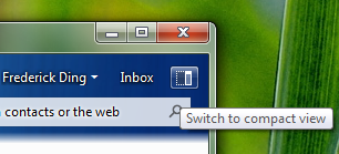 A button to switch to Compact View in Windows Live Messenger Wave 4