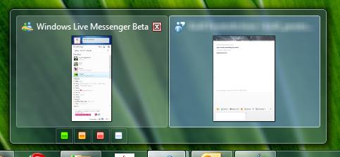 Windows 7 taskbar integration for WLM Wave 4