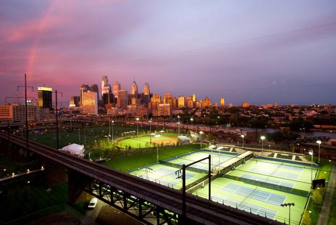 Center City Philadelphia, as seen over Penn Park