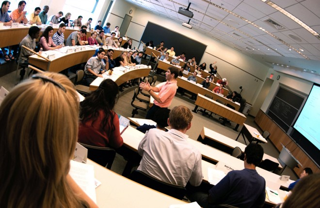 Wharton classroom in Huntsman Hall