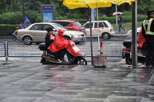 Some people on a moped