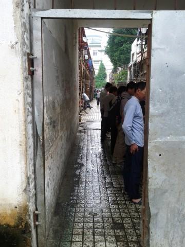 Alleyway of labourers in Wuxi