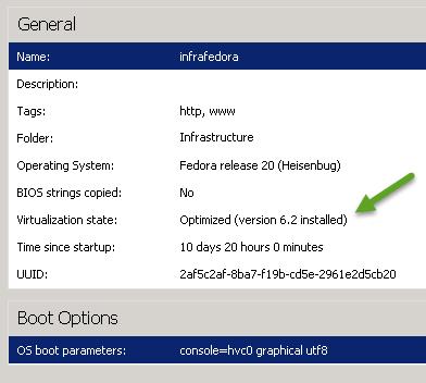XenServer tools installed on Fedora 20
