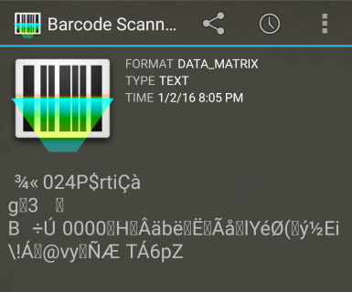 Barcode Scanner on IBI postage barcode